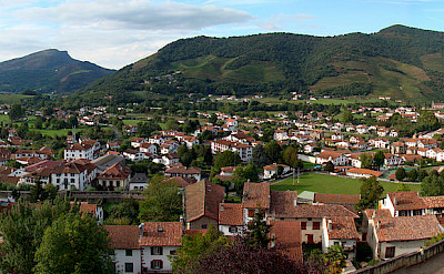 At the foot of the Pyrenees is St-Jean-pied-de-Port in the Pyrénées-Atlantiques department of southern France. Wikimedia Commons:Bjorn Christian Torrissen