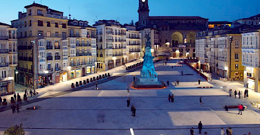 Vitoria-Gasteiz (or just Vitoria), the capital city of Basque Country in Spain. Wikimedia Commons:Mikelcg
