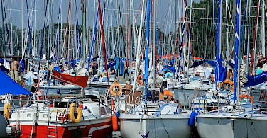 Boats in the Harbor. Masuria Lake District, Poland. Photo via Flickr:Ministry of Foreign Affairs Republic of Poland