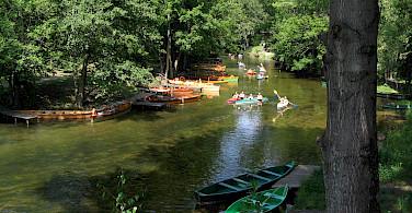 Kayaking on the Krutynia River in the Masuria Lake District, Poland. Photo via Wikimedia Commons:Piotr Tysarczyk