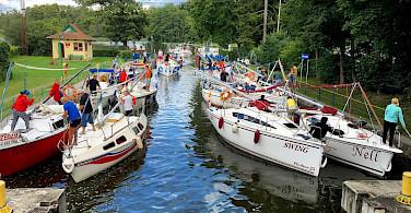 Boats in Ruciane Nida, Masuria, Poland. Photo via Flickr:grego1402
