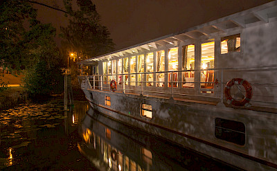 Evening on board in the Masurian Lake District - MS Classic Lady | Bike & Boat Tours