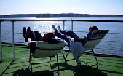 Sun deck - MS Classic Lady | Bike & Boat Tours