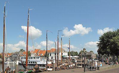 Harbor in Elburg, Gelderland, the Netherlands. CC:Michielverbeek