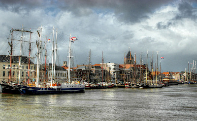 Harbor in Kampen, Overijssel, the Netherlands. Photo via Flickr:Joop van Dijk