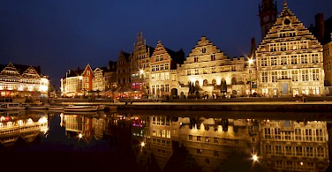 Ghent sparkles at night, Belgium. Photo via Flickr:Sandeep Pawar