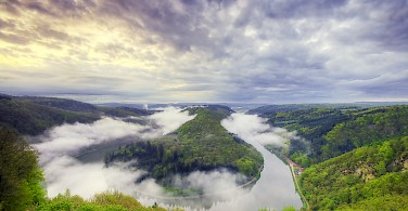 Saar River bend in Merzig, Saarland, Germany. Photo via Flickr:Wolfgang Staudt