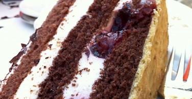 Schwarzwaelderkirschtorte - a biker's dessert in Germany. Photo via Flickr:Jeremy Keith