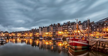 Picturesque harbor in Honfleur, Normandy, France. Photo via Flickr:Andres Nieto Porras