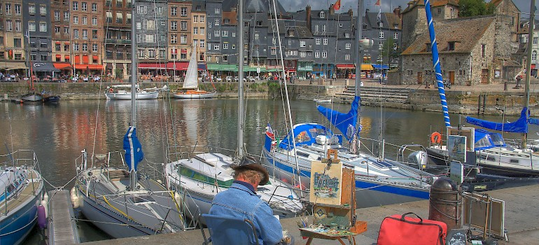 Painters from Courbet to Monet to others still today have flocked to Honfleur for its beauty. Normandy, France. Photo via Wikimedia Commons:Pir6mon