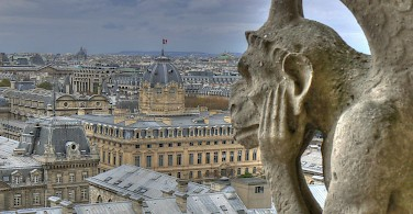 Gargoyles gazing upon Paris, France. Photo via Flickr:jac82