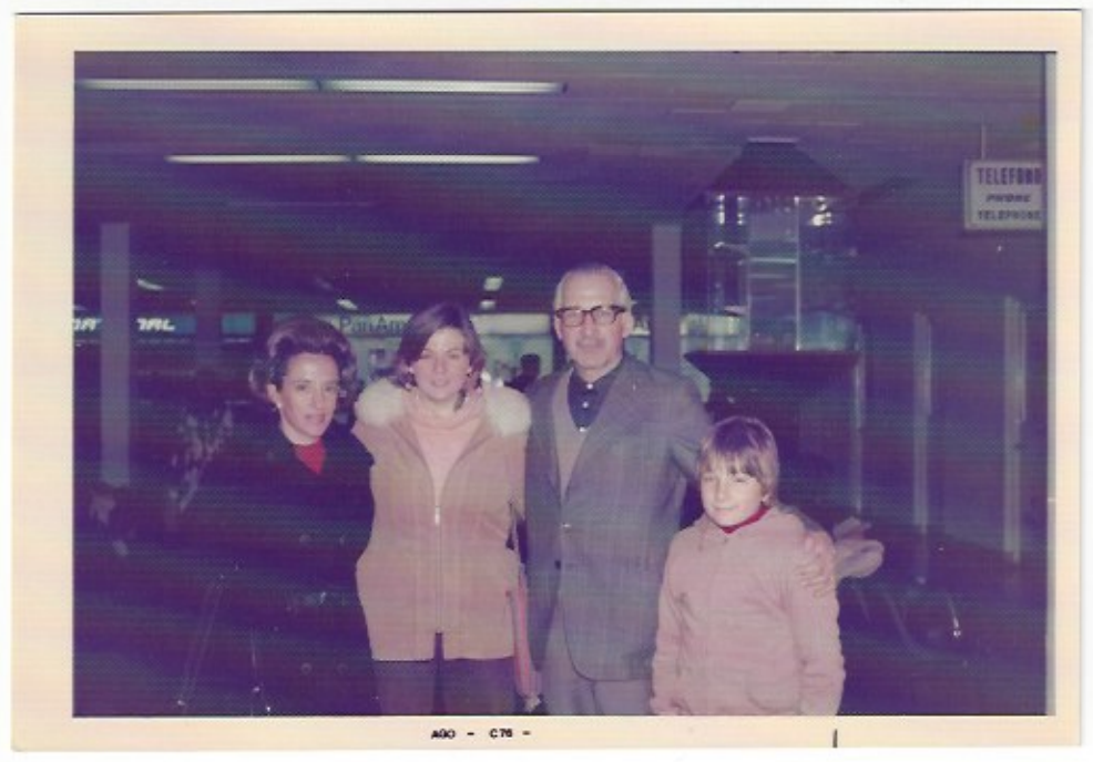 Mary with Host Family