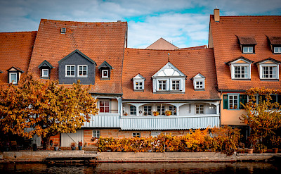 """Little Venice"" in Bamberg on the Regnitz River in Germany. Flickr:Heinz Bunse"