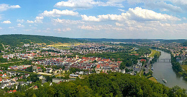 Panoramic of Kelheim at the confluence of Rivers Altmühl and Danube, Germany. Photo via Flickr:Wolfgang Manousek