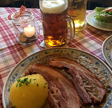 Rauchfleisch mit Linsen in Bamberg, Germany. Photo via Flickr:Armin