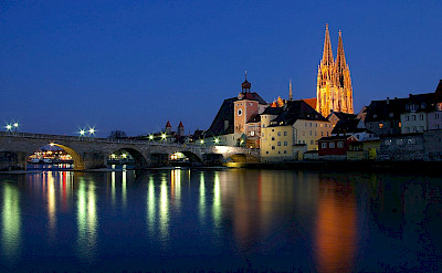 Three Rivers confluence in Regensburg, Germany. CC:Sharhues