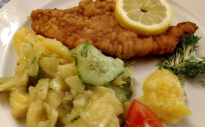 Schnitzel in Regensburg, Germany. flickr:Gsankary