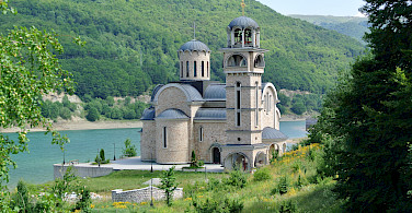 Lakeside monastery en route. Photo via Tour Operator.