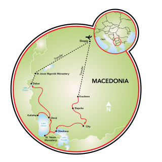 Magnificent Macedonia - 8 days Map