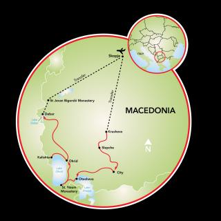 Magnificent Macedonia - 8 days Map