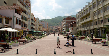 Pogradec on Ohrid Lake in southeastern Albania. Photo via Flickr:Julijan Nyča