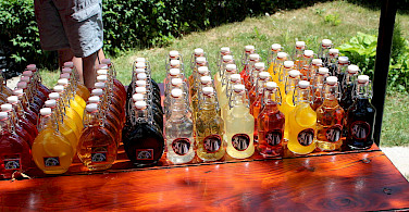 Rakija (popular fruit brandy from the Balkans) for sale! Photo via Wikimedia Commons:Wikiarius
