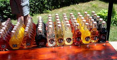 Rakija (popular fruit brandy from the Balkans) for sale! Photo via Wikimedia Commons:Wikiarius