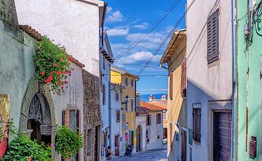 Bike rest in Motovun, Istria Peninsula, Croatia. Photo via Flickr:Arnie Papp