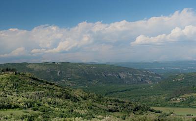 Panoramic of the hilltop Motovun, central Istria, Croatia. Flickr:Roman Avdagic