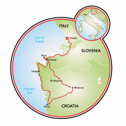 Istria to the Adriatic Map