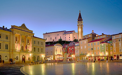 Piran with its medieval square in Slovenia. Flickr:Pedro Szekely