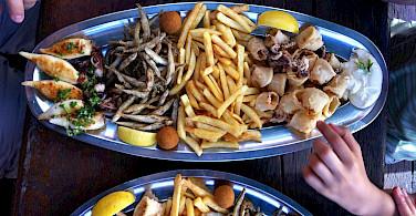 Finger foods in Portoroz, Slovenia. Photo via Flickr:Hasan Basri Akirmak