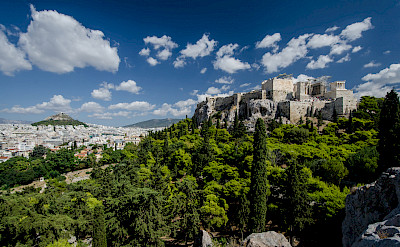 View of the Acropolis from Areopagus, Athens, Greece. Flickr:Tobias Van Der Elst