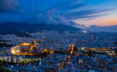 Evening glow in Athens, Greece. Flickr:Jose Nicdao