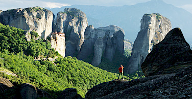 Photo op in Meteora, Greece. Photo courtesy of TO - Rupert Shanks.