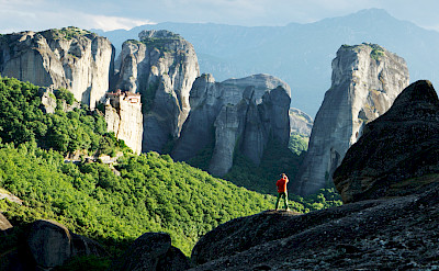Photo op in Meteora, Greece. Photo by Rupert Shanks via TO.