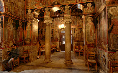 Inside an Eastern Orthodox Monastery. Photo via TO
