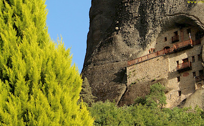 Cliff dwellings in Meteora, Greece. Photo via TO