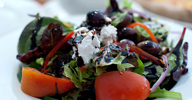 The famous Greek salads! Flickr:Alfred Low