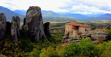 Cliff-high monasteries in Meteora, Greece. Photo via TO