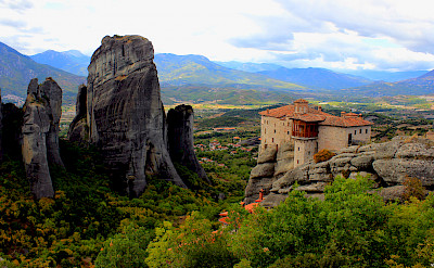 Cliff-high monasteries in Meteora, Greece. Photo via TO