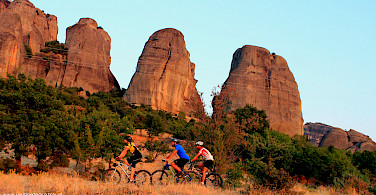 Mountain biking amongst the sandstone cliffs. Photo courtesy of TO.