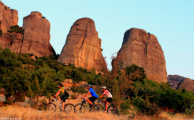 Mountain biking amongst the sandstone cliffs. Photo via TO