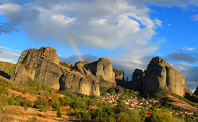 Biking through Meteora, Greece. Photo via