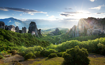 Bike rest in Meteora, Greece. Photo by Rupert Shanks via TO.