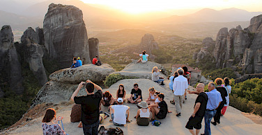 Admiring the view in Meteora, Greece. Photo courtesy of TO.