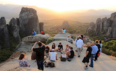 Admiring the view in Meteora, Greece. Photo via TO