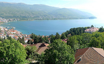 Ohrid Lake and Ohrid, Albania. Wikimedia Commons:Alexander Vujadinovic