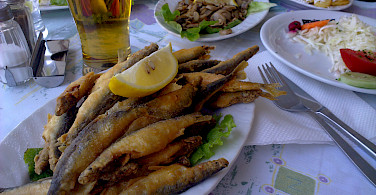 Lunch at Ohrid Lake, Albania. Photo via Flickr:Antti T. Nissinen