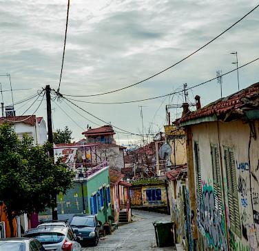 Street in Struga on Lake Ohrid, Macedonia. Photo via Flickr:lasserbua